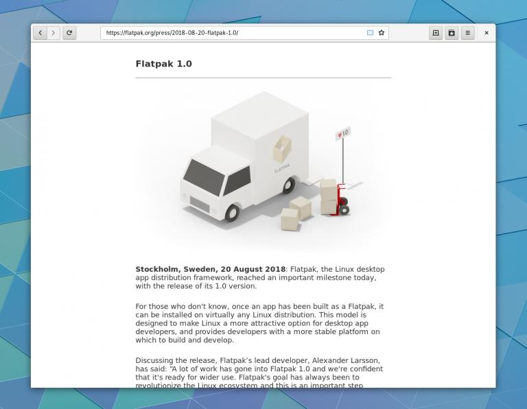 GNOME 3.30 epiphany